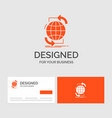 business logo template for connectivity global vector image vector image