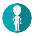 business man construction clipboard helmet shadow vector image