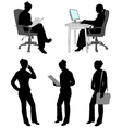 business woman silhouettes vector image vector image