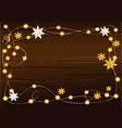 christmas lighting frame vector image vector image
