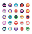 collection of furniture flat icons vector image
