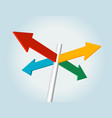 color arrow sign vector image vector image