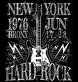 Cool grunge hand drawn electric guitar with