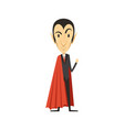 count dracula angry vampire in suit and red cape vector image vector image