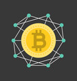 cryptocurrency working concept icon vector image vector image