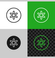 cucumber slice icon line style cucumber symbol vector image vector image