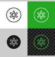 cucumber slice icon line style symbol vector image