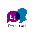 event manager logo vector image vector image