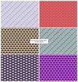 Eyes pattern backgrounds set vector image vector image