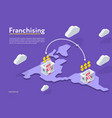franchising stores on the map vector image