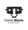 glasses movie logo design vector image vector image