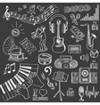 Hand drawn music set vector image vector image
