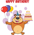 Happy birthday dog cartoon vector image vector image