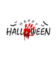 happy halloween card black scary design isolated vector image vector image