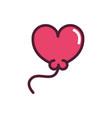 happy valentines day balloon shape heart love vector image vector image