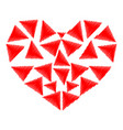 heart red color with parts vector image vector image