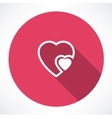 heart to heart icon vector image vector image