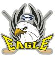hockey eagle vector image vector image