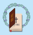 holy bible wedding flower decoration vector image vector image