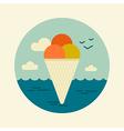 Ice Cream icon Summer Beach Sun Sea vector image