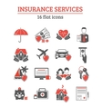 Insurance Services Icons Set vector image vector image
