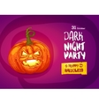 Jack pumpkin night party invitation vector image vector image