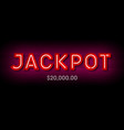 jackpot broadway style bright banner with winning vector image