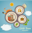 Little town infographics vector | Price: 3 Credits (USD $3)