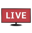 Live TV vector image