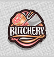 logo for butchery vector image vector image