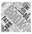 low carb cooking Word Cloud Concept vector image vector image