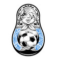 matryoshka with tattoos vector image