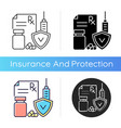 medical insurance icon vector image vector image