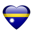 Nauru flag button vector image vector image