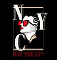 new york city hand drawn pretty vector image vector image