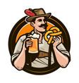 oktoberfest beer festival happy man in national vector image vector image