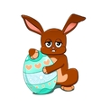 Rabbit with an Easter egg vector image