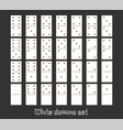 realistic dominoes full set 28 flat pieces for vector image vector image