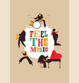 retro jazz music band concept poster vector image