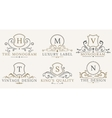 Retro Royal Vintage Shields Luxury logo vector image vector image