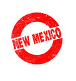 rubber ink stamp new mexico vector image