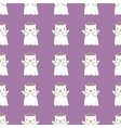 seamless pattern background with cartoon cats vector image vector image