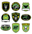set badges military in bundle vector image vector image
