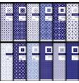 set geometric seamless patterns vector image vector image