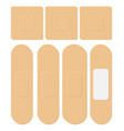 set of adhesive flexible fabric plaster medical vector image