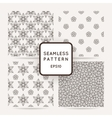 Set of seamless flower patterns vector image vector image