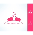Set of valentines couple signs with two vector image vector image