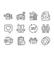 set technology icons such as speakers safe vector image vector image