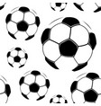 soccer balls on a white background vector image