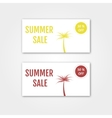 Summer Sale collection Summer price tags vector image vector image